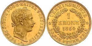 1 Krone Imperio austríaco (1804-1867) Oro