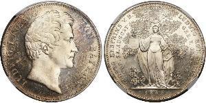 2 Thaler Royaume de Bavière (1806 - 1918) Argent Louis Ier de Bavière(1786 – 1868)