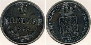 2 Kreuzer Austrian Empire (1804-1867) Copper