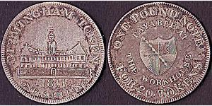 1 Shilling / 1 Token 大不列颠及爱尔兰联合王国 (1801 - 1922) 銀