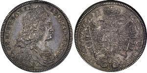 1/2 Талер Габсбурзька імперія (1526-1804) Срібло Карл VI імператор Священної Римської імперії  (1685-1740)