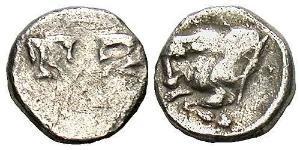 1 Tetartemorion Grecia antica (1100BC-330) Argento