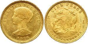 100 Peso Chile Gold