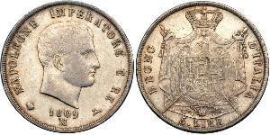 5 Lira Italien Silber Napoleon Bonaparte(1769 - 1821)