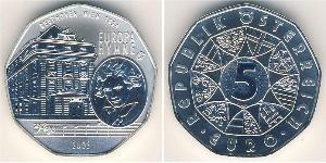 5 Euro Republic of Austria (1955 - ) Argento