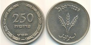 250 Pruta Israel (1948 - ) Copper/Nickel