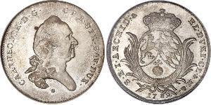 1/2 Талер Баварія (курфюрство) (1623 - 1806) Срібло Charles Theodore, Elector of Bavaria (1724 - 1799)