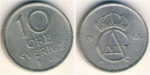 10 Эре Швеция Никель/Медь