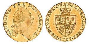 1/2 Guinea Reino de Gran Bretaña (1707-1801) Oro Jorge III (1738-1820)