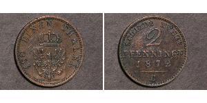 2 Pfennig Reino de Prusia (1701-1918) Cobre