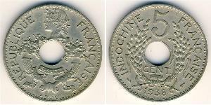 5 Цент Французский Индокитай (1887-1954) Никель/Медь
