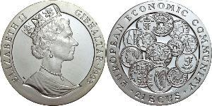 21 Ecu Gibraltar Silver Elizabeth II (1926-)