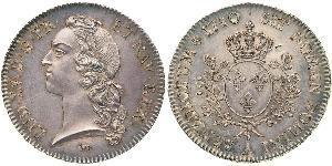 1 Ecu Francia medioevale (843-1791) Argento Luigi XV di Francia (1710-1774)