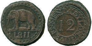 4 Stiver / 1/12 Rixdollar Sri Lanka Kupfer Georg III (1738-1820)