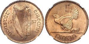 1 Penny Irlande (1922 - ) Bronze