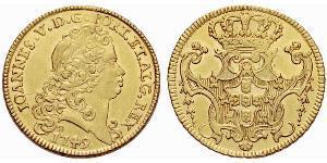 6400 Reis Royaume de Portugal (1139-1910) Or Jean V de Portugal (1689-1750)