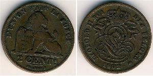 2 Centavo Bélgica Cobre