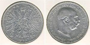 2 Krone Autriche-Hongrie (1867-1918) Argent