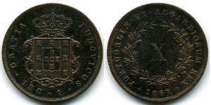 10 Reis Kingdom of Portugal (1139-1910) Copper Luís I of Portugal (1838 - 1889)