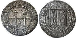 4 Real Spanish Mexico  / Kingdom of New Spain (1519 - 1821) Silver Charles V, Holy Roman Emperor (1500-1558)