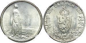 1 Krone Kongeriket Norge (1905 - ) Silber Haakon VII. (1872 - 1957)