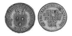 1 Kreuzer Grand Duchy of Baden (1806-1918) Kupfer Friedrich I. (Baden, Großherzog) (1826 - 1907)