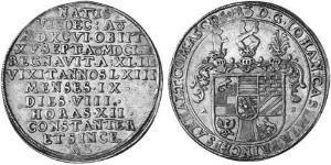 1 Thaler Anhalt-Dessau (1603 -1863) / Anhalt (1806 - 1918) Plata John Casimir, Prince of Anhalt-Dessau (1596 – 1660)