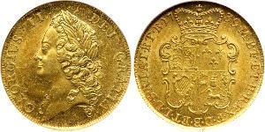 2 Guinea Regno Unito di Gran Bretagna (1707-1801) Oro Giorgio II (1683-1760)