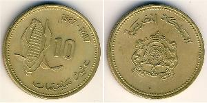 10 Centime Morocco Brass