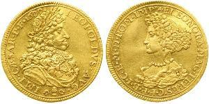 1 Ducat Augsburgo (1276 - 1803) Oro Leopoldo I de Habsburgo(1640-1705)