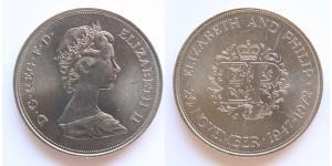 1/2 Крона(английская) Великобритания (1922-) Медь/Никель Елизавета II (1926-)