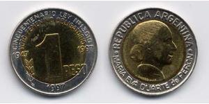 1 Peso Argentina (1861 - ) Bimetal