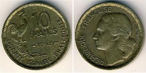 10 Франк Четвёртая французская республика (1946-1958) Бронза/Алюминий