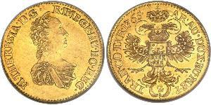 2 Ducat Principality of Transylvania (1571-1711) / Sacro Imperio Romano (962-1806) Oro Maria Theresa of Austria (1717 - 1780)