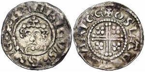 1 Пенни Королевство Англия (927-1649,1660-1707) Серебро Генрих II (1133 - 1189)