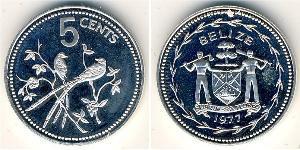 5 Cent Belize (1981 - ) Copper/Nickel