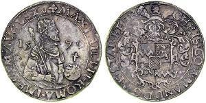 1 Rijksdaalder Regno dei Paesi Bassi (1815 - ) Argento Massimiliano II d
