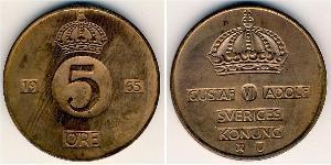 5 Ore Sweden Bronze