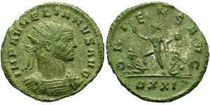 1 Antoniniano Impero romano (27BC-395) Bronzo Aureliano (215-275)