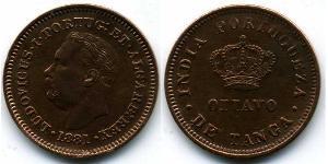 1/8 Tanga Португальская Индия (1510-1961) Медь