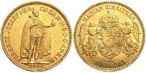 10 Krone Kingdom of Hungary (1000-1918) Gold Franz Joseph I (1830 - 1916)