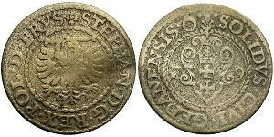 1 Solidus Danzica (1454-1793) Argento Stephen Báthory (1533-1586)
