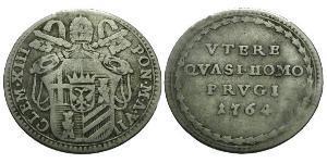 1 Grosso Папська держава (752-1870) Срібло Климент XIII (1693 -1769)