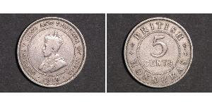 5 Цент Британский Гондурас (1862-1981) Нікель/Мідь Георг V (1865-1936)