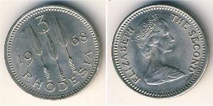 3 Пенни Южная Родезия (1923-1980) Никель/Медь