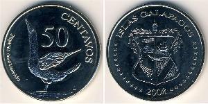 50 Centavo Galápagos Rame/Nichel