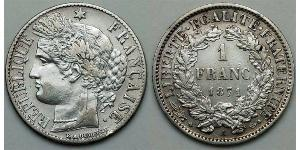 1 Franc French Third Republic (1870-1940)  Silver