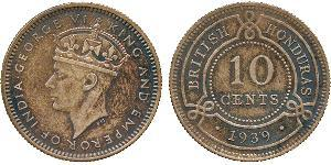 10 Cent British Honduras (1862-1981) Silver George VI (1895-1952)