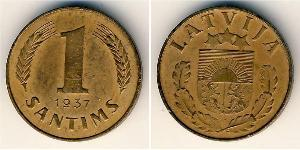 1 Santims Latvia Bronze