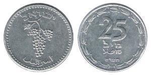 25 Shekel Israël (1948 - ) Aluminium-Magnesium